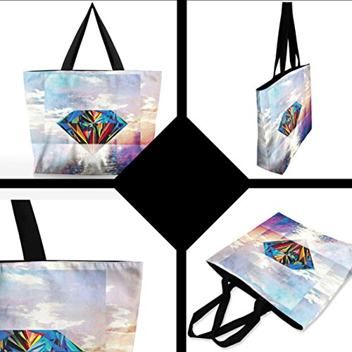Belsen, Borsa a spalla donna multicolore Eye cat Taglia unica Diamond
