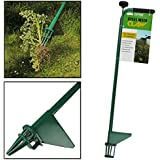 AMOS Steel Weed Puller Claw Lawn Easy Weeder Root Remover Killer Grabber Long Handled Garden Tool