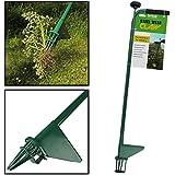 AMOS Extractor de Malas Hierbas Malezas de Césped Escardador de Acero Removedor Capturador de Raíces Herramienta para el Jardín con Mango Largo