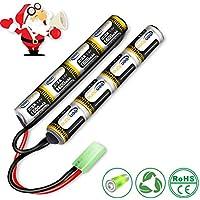 Keenstone Airsoft batería de 9.6V 1600 mAh NiMH pilas rechargeable Mini mariposa Mini conector Tamiya para armas de Airsoft guns G36C, M4A1-RIS, M4A1, CAR15, MP5A5, MC51, FNP90, AUGRT,AUGM, G3A4, G36 etc