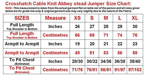 Mens Schraffur Marke Cable Knit Abbeystead Jumper lässig Top Langarm-Pullover Black Marl