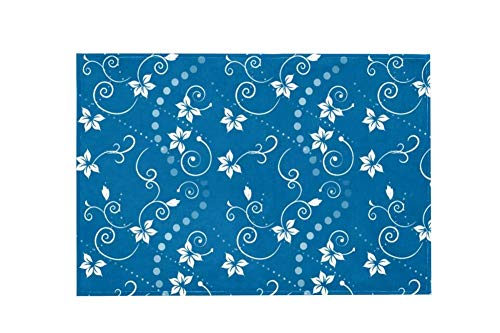Floral Design Blue Z003 Large Area Rugs,Dirty Children's Carpets for Living Roooms,Bedrooms,Children's Doormats 91.5x61cm/36x24in