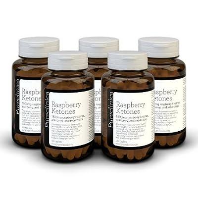 Triple strength Raspberry Ketones - 1500mg x 1080 tablets (6 bottles - 18 months supply) - with Resveratrol & Acai Berry. 99.94% pure - 3 x strength of normal Raspberry ketones. SKU: RK3x6