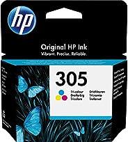 HP 305 3YM60AE, Tricolor, Cartucho de Tinta Original, compatible con impresoras de inyección de Tinta HP DeskJ