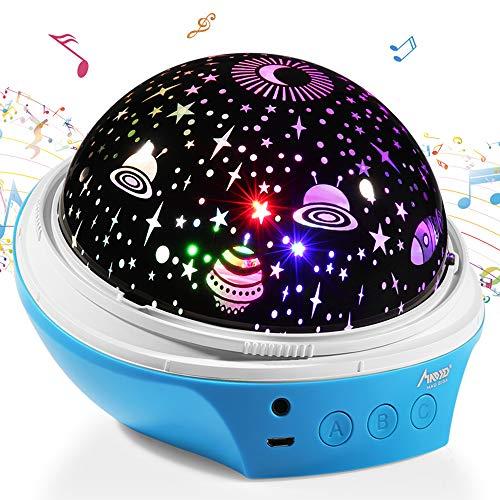 Lámpara Proyector,MAD GIGA 360 Grados Rotación Proyector Lámpara Estrellas,2 Pantallas de Lámpara Intercambiables + Nueve Fuentes de Luz Variables + Dos Modos de Potencia