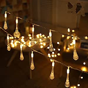 Unique Indoor String Lights : CrazySell Flower Fairy Outdoor Solar String Lights, 20 LED Multi-Color Fairy Blossom Christmas ...