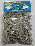 ETHAHE 600pcs Loom Bands Elastiques Gris sans Latex Bracelet à Tricoter avec 24 S-Attaches