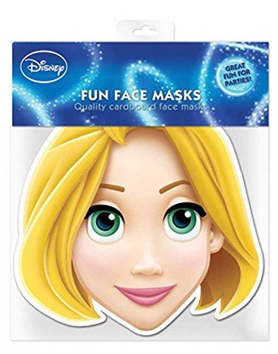 Disney Princess–Rapunzel Máscara de Cartón (Efecto satinado, agujeros en los ojos y cinta de goma, tamaño 30x 20cm