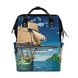Elegante borsa da viaggio zaino borsa portatile borsa grande capacità navi vela mare cielo