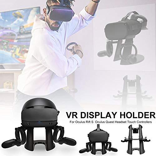Für Oculus VR Ständer Headset Display Halter Controller Mount Station Headset Touch Controller für Oculus Rift S Quest (schwarz)