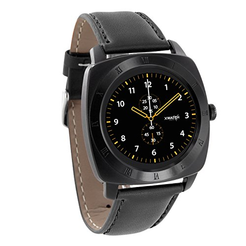 X-WATCH NARA XW PRO black chrome Smartwatch Android und iPhone kompatibel