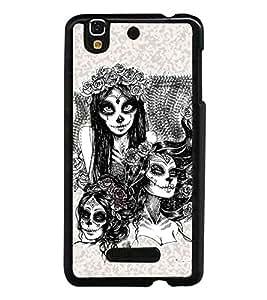 HiFi High Glossy Designer Phone Back Case Cover YU Yureka :: YU Yureka AO5510 ( Beautiful Lady art Sketch )