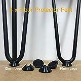 Protectores para patas de horquilla, paquete de 4, deslizadores de goma antideslizantes para suelos duros, universal para barras de acero de 10 mm y 12 mm