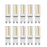 Glühbirne G9 LED, RANBOO, 5W(40 W Halogenlampe ähnlich), 330lm, AC 220–240 V, Nicht dimmbar, Nicht Flicker, 360 Grad Abstrahlwinkel, Warmweiß 3000K, Energiesparend Leuchtmittel, 10 Pack