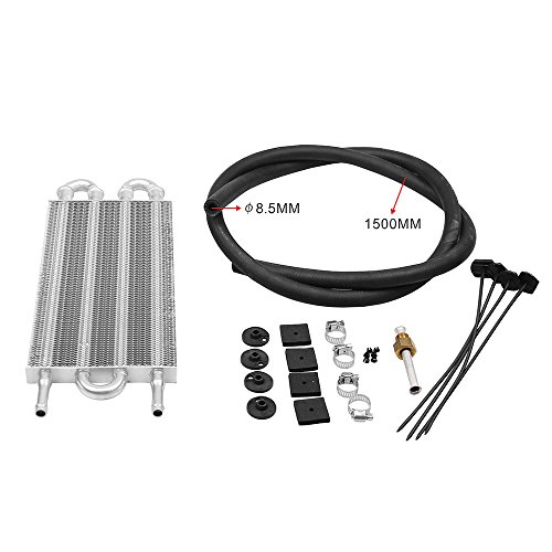 Hylotele TOC003 Alluminio Trasmissione a distanza Sistema di raffreddamento olio Auto AC Condensatore Aria condizionata Convertitore per radiatore Accessori