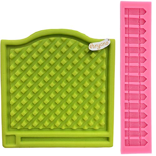 anyana 2niedliche Zaunpfosten Form, Zaun Korb Silikon Spitze Form Fondant Schokolade Form Kuchen 3D Silikon Dekoration Geprägt Tools (Schokoladenform Korb)