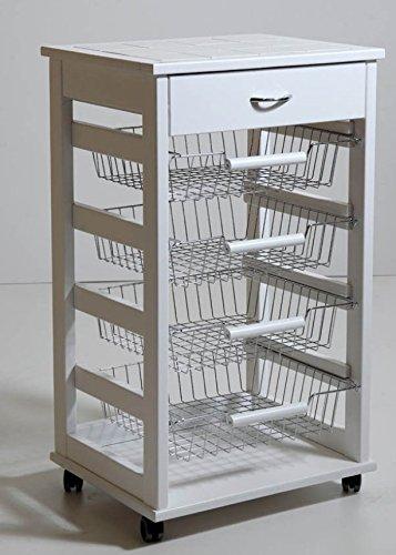 Carrello vesuvio portafrutta ruote e cassetto porta forno portatv ...