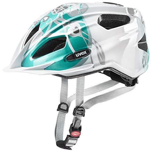 Uvex Quatro Junior Kinder Fahrrad Helm Gr. 50-55cm weiß/türkis 2019