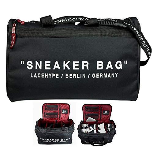 LaceHype® Sneaker Bag Schuhtasche Shoebag Reisetasche für Schuhe mit Trennwänden - hochwertige Sneaker Tasche für Schuhe, passend bis zu 4 Paar, männlich, Unisex