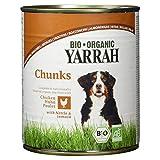 Bio Adult Hundefutter - saftige Stückchen mit Huhn, Tomate und Brennnessel - (Yarrah) 820g