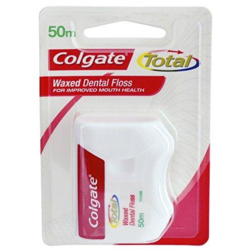 Colgate Total gewachste Zahnseide zur Verbesserung der Mundgesundheit, 25 m, 6 Stück
