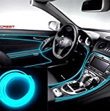 #9: Amsik®Cold Dashboard Ice Blue Strip Light 5 Meters For Maruti Suzuki Swift