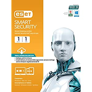 Eset Smart Security- 1 PC, 1 Year (Email Delivery in 2 hours- No CD)