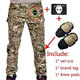 Pantaloni Shooting BDU militari, con ginocchiere Typhon Kryptek TYP, per airsoft e paintball, Multicam, M