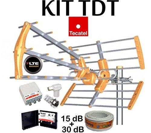 KIT ANTENA TECATEL BKM-15 NARANJA + ROLLO CABLE TELEVES