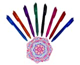 Erasable Gel Pens - Pack of 8 Friction Erasable Coloured Pens Set - 8 Colourful Fine Point Pens with 0.5mm Points - Best for Smooth Writing, Drawing & Easy Correction - A Novel Gift - By Hieno Supplies