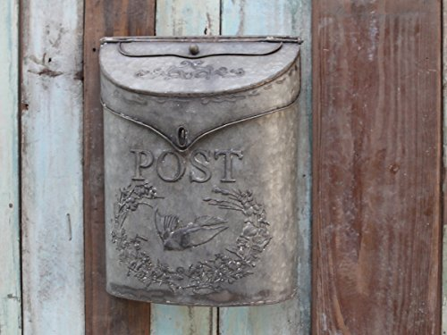 Chic Antique nostalgischer Briefkasten Zink Antik-look Shabby Mailbox