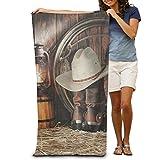 "Bath Towel Happy Western Life Creative Patterned Soft Beach Towel 31""x 51"" Towel"