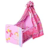 KNORRTOYS.COM 67204 - My Little Princess - Cuna de muñecas con dosel, color rosa