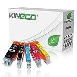 5 Tintenpatronen kompatibel zu PGI-550XL CLI-551XL für Canon Pixma MX925 All-in-One, Pixma iP7250, Pixma iX6850 A3+, Pixma MG5650, Pixma MG7550, MG6450, MG6650, MG7150 - mit Chip und Füllstandsanzeige - Schwarz je 23ml, Color je 15ml