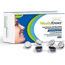 WoodyKnows Filtros Nasales 3 en 1, Combina Defensa Súper, Ultra Filtros Nasales Respirables que Reduce Gas y Artículos Contaminantes, Alivia el Polen, Alergia al Polvo y Otras Alergias (II-R)