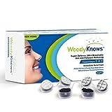 WoodyKnows 3 in 1 Nasenfilter kombiniert Ultra-Atmungsaktiv, Super Defense und Gas- und Schmutzreduzierung in einem zur Linderung von Pollen und Stauballergien(3 Filterrahmen und 6 Paar Ersatz-Filter)(III-R)