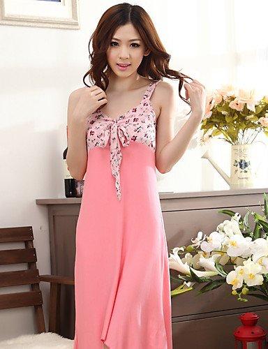 HJL Da donna Uniformi e abiti tradizionali cinesi Indumenti da notte,Sheer supplementare Pois blushing pink