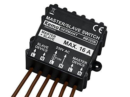 Kemo Electronic - Interruttore MASTER SLAVE attivazione apparati 230V 15A con Master attivo
