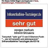 newgen medicals Sitzsauna für Zuhause: Kompakte Infrarot-Sitzsauna aus Hemlock-Holz, 760 W, 0,62 m² (Infrarot Sauna) - 6