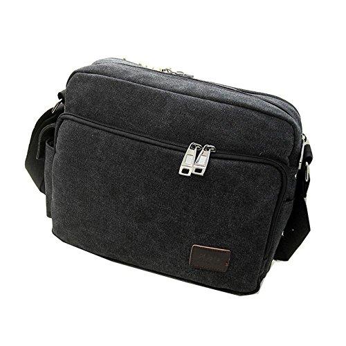 Viaggi sacchetto esterno della tela di canapa impermeabile spalla casuale borsa diagonale pacchetto , blue Black