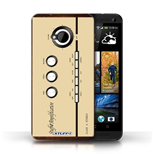 Kobalt® Imprimé Etui / Coque pour HTC One/1 M7 / Égaliseur Graphique conception / Série Retro Tech Amp/Amplificateur