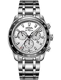 Giratorio Legacy Hombre Reloj de Cuarzo con cronógrafo de Plata y Plata Pulsera de Acero Inoxidable gb90169/02