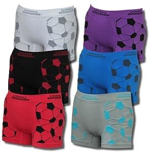 Lavazio 6er Set Kids Jungen Coole sportliche Microfaser Boxershorts Motiv Fussball