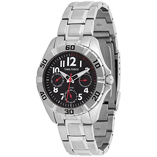 TIME FORCE TF-4133B04M Reloj para Chico, Multifunción