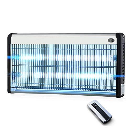 ZTMN Mückenvernichter Lampe hängend Kette Stromschlag Fernbedienung UV Insektizid Lampe geräuscharm effizient töten Fliegen Haushalt, 3 Größen (Farbe: Silber, Größe: 63x6x25cm-40W)