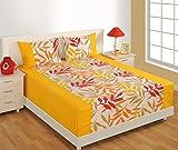 Swayam Printed Cotton Double Bedsheet wi...
