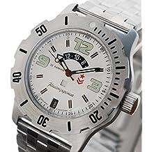 Vostok ruso mecánico K-35# 350606KOMANDIRSKIE reloj de pulsera 2432