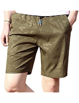 Pantalones Cortos de Playa de Moda para Hombres Pantalones Cortos de Playa de Secado Rápido de Camuflaje Verano...