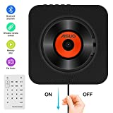 Aisuo CD Player, Wall Mountable Home Audio with Built-in Bluetooth 4.2 Hifi Speaker