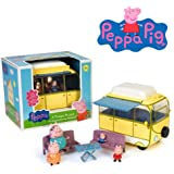 C 25606 CAMPER Peppa Pig de juguetes de plástico juego de la muchacha JUGUETES alcancía